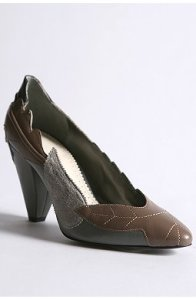Patchwork Leaf Heel - SALE $39.99