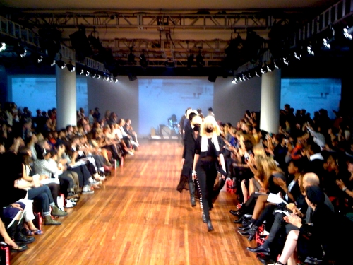Final run at Iris Van Herpen LFW show 9/19/09